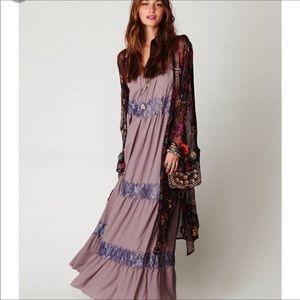 Free People Lace Stripes Maxi Dress